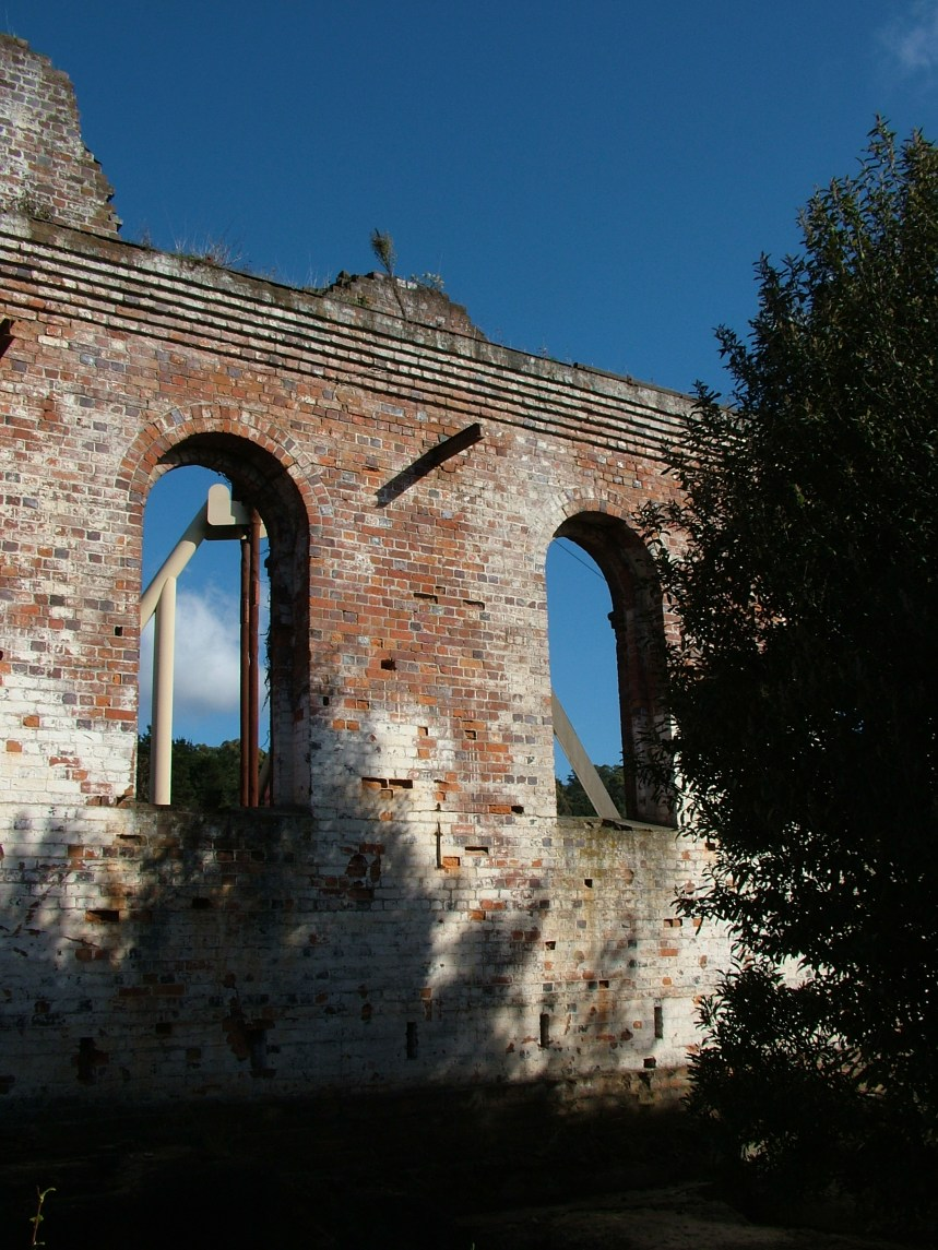 Remains of the boiler house building