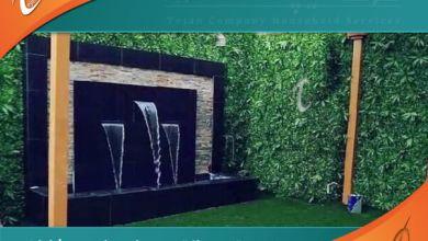 تصميم شلالات في ينبع من خلال أفضل فني عمل نوافير وشلالات وديكور احواش وتنسيق حدائق بينبع