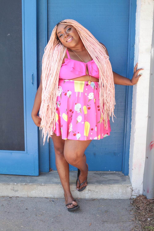 Amina Ice Cream Skater Skirt and Bikini