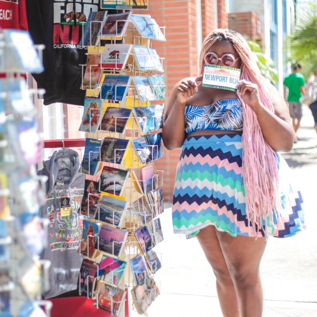 Amina Post Card Skater skirt