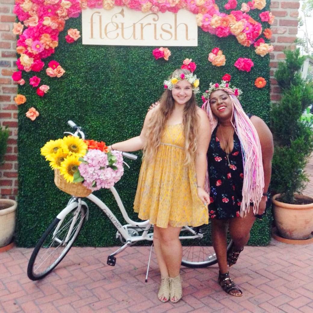 Lauren and Amina flower crown