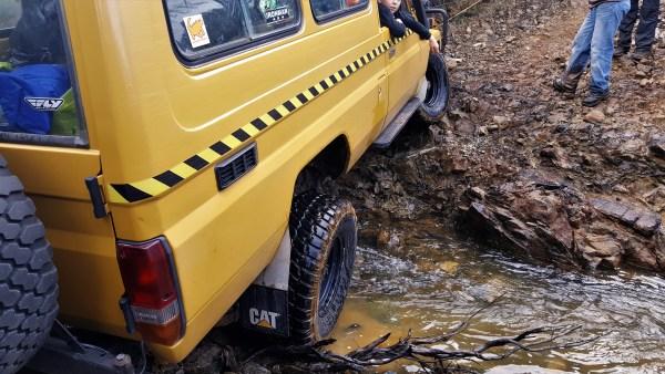 stuck in creek - Waratah 4WD Trip - Godkin Mine
