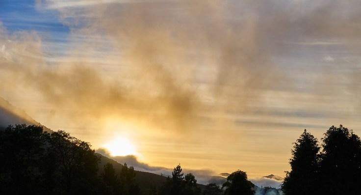 Morning Sunrise Fog