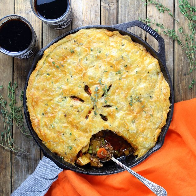 Cottage Beef Pot Pie with Potatoes and Parsnips Photo