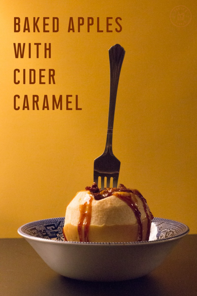 Baked Apples with Cider Caramel | Taste & Tipple