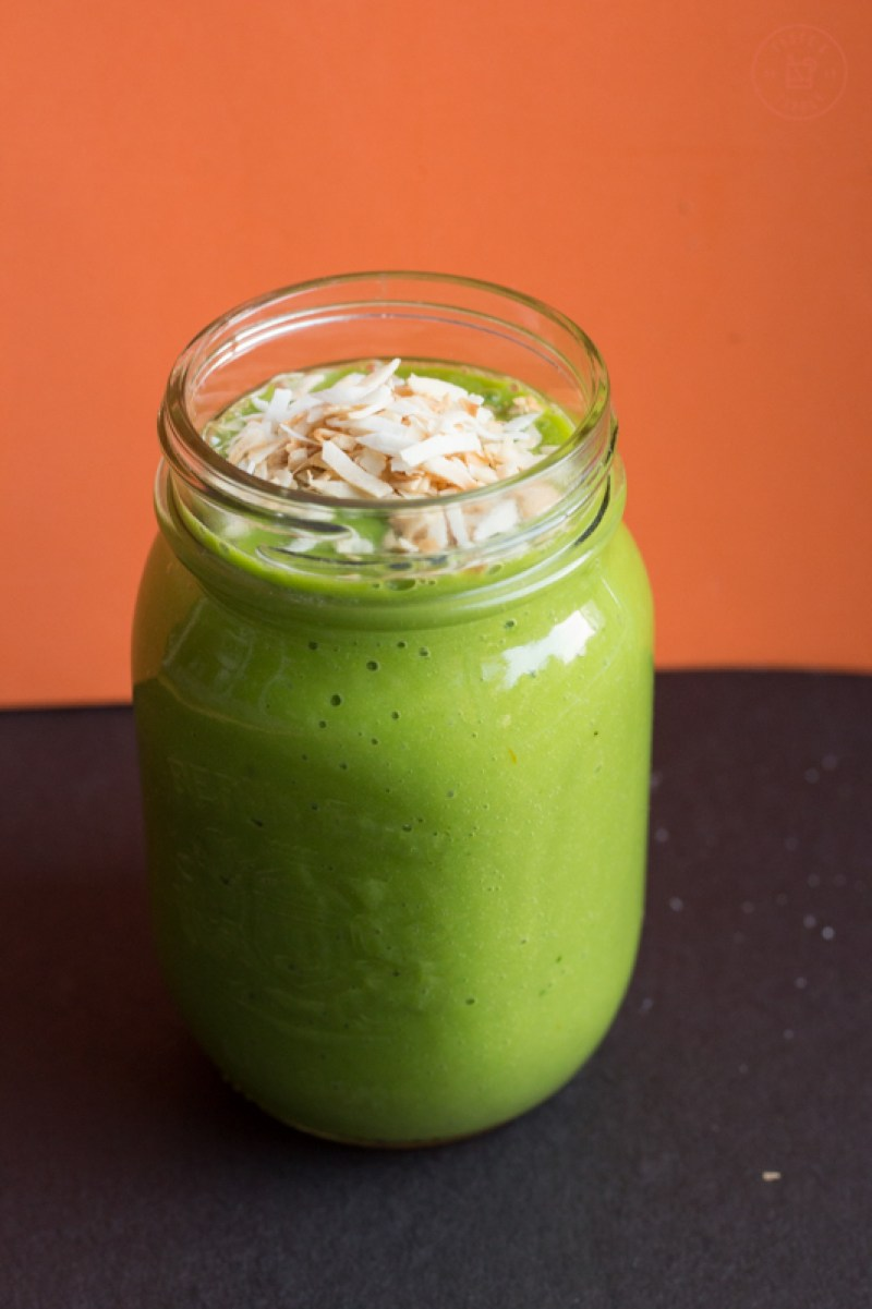 Tropical Green Smoothie | Taste and Tipple