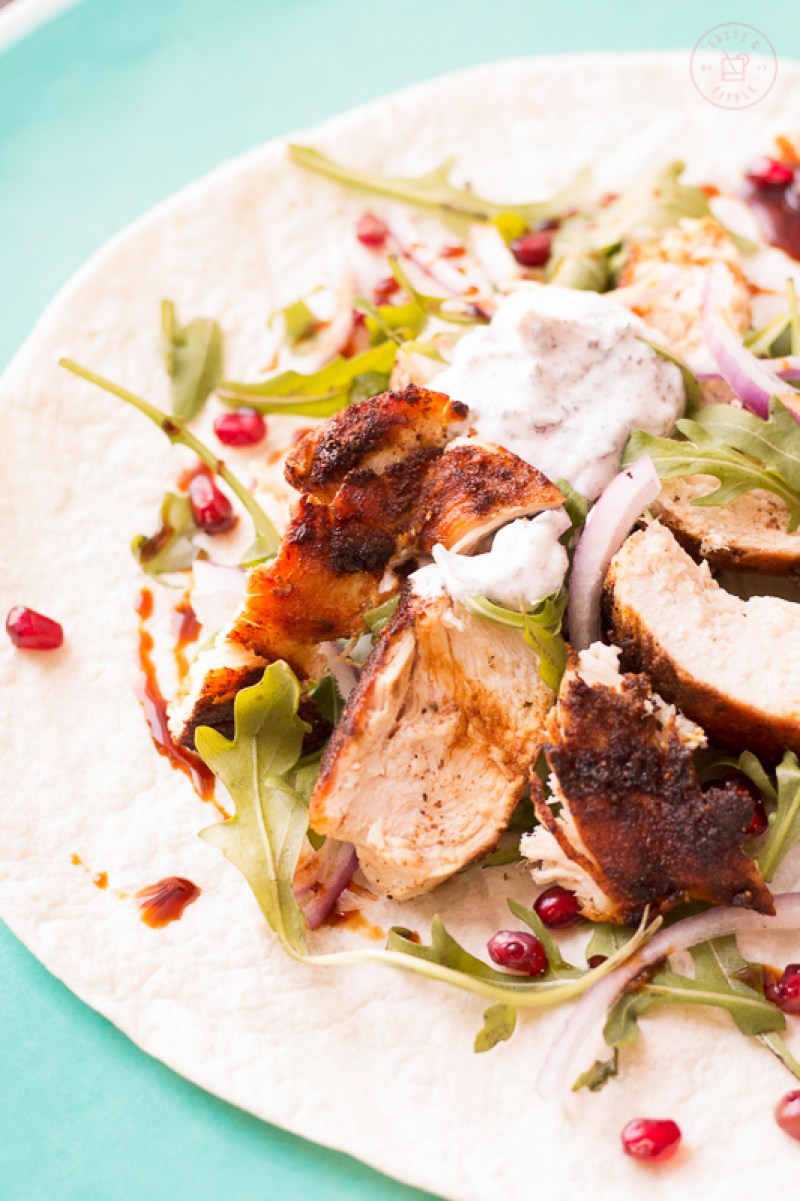 Persian Chicken Wraps | Taste and Tipple