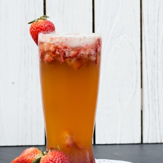 Peppered Strawberry Balsamic Shandy