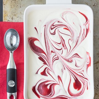 Strawberry Coconut Semifreddo