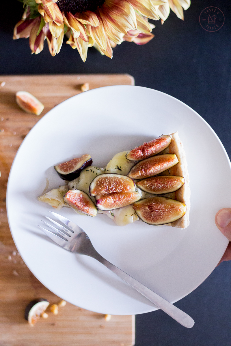 Warm Fig & Brie Pie with Walnut Crust   Taste and Tipple