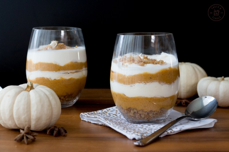 Pumpkin Cheesecake Trifles | Taste and Tipple