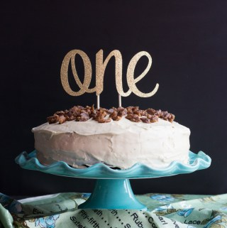 Pumpkin Pecan Cake with Brown Butter Icing