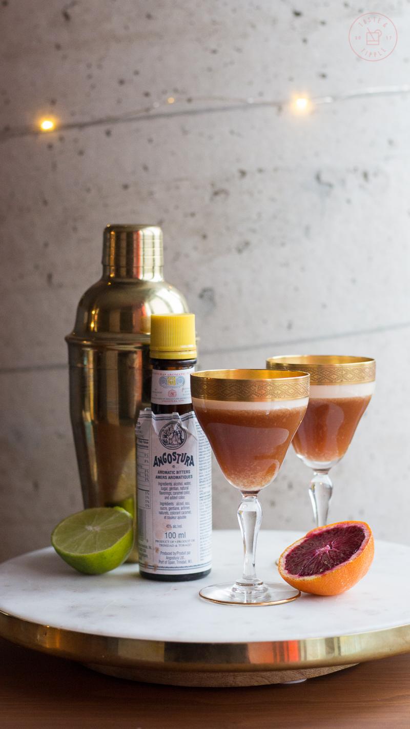 Blood Orange Mezcal Sour | Taste and Tipple