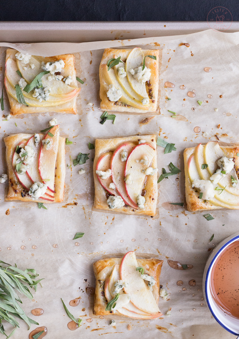 Apple and Blue Cheese Tartlets with Icewine Glaze | Taste and Tipple