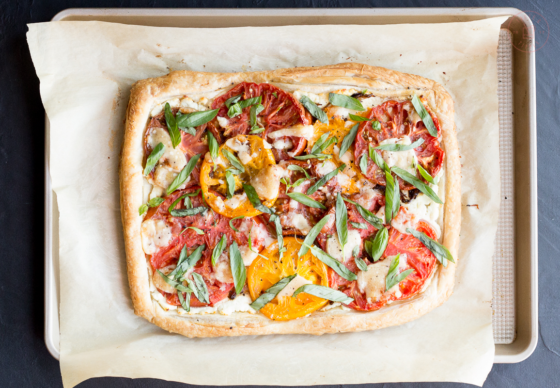 Tomato, Goat Cheese & Caramelized Shallot Tart | Taste and Tipple
