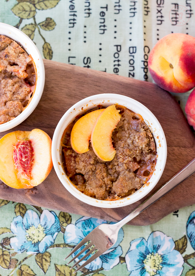 Individual Peach Cobblers | Taste and Tipple