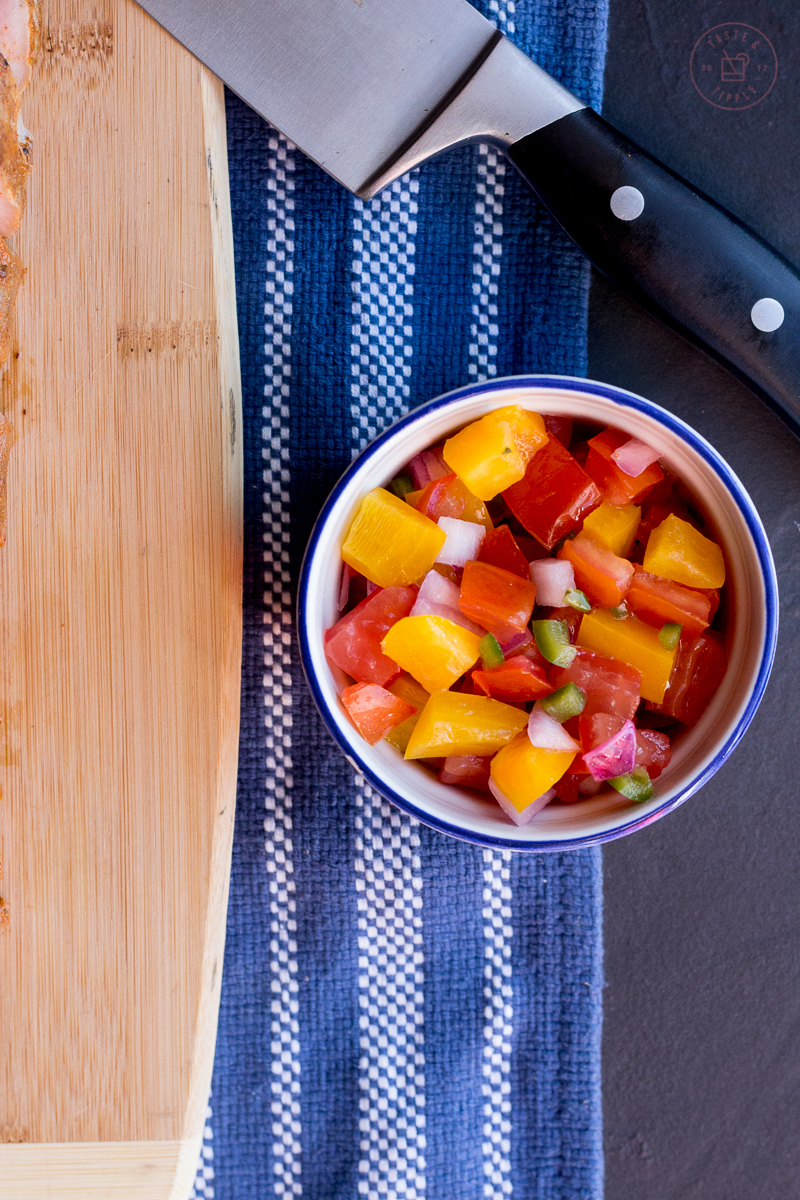 Sous Vide Chili-Rubbed Pork Tenderloin with Fresh Salsa   Taste and Tipple