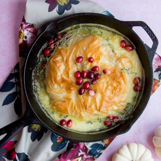 Phyllo-Wrapped Baked Brie with Cranberry Compote | Taste and Tipple