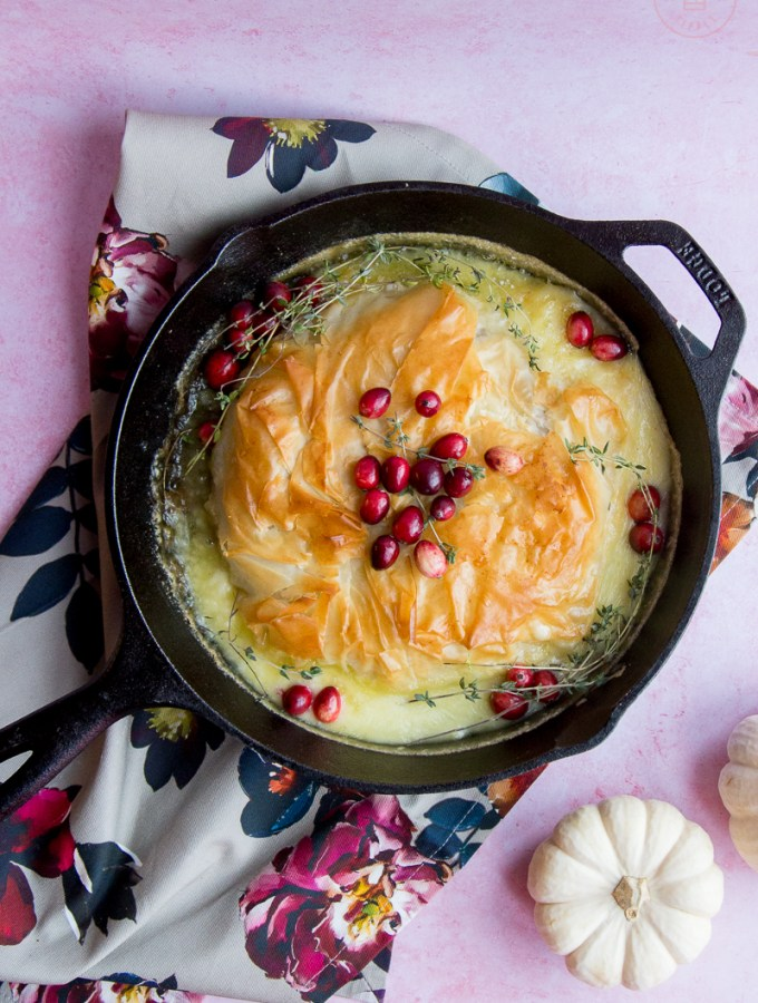 Phyllo-Wrapped Baked Brie with Cranberry Compote   Taste and Tipple