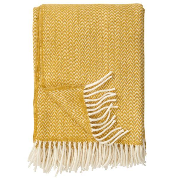 Yellow Chevron Blanket | Klippan