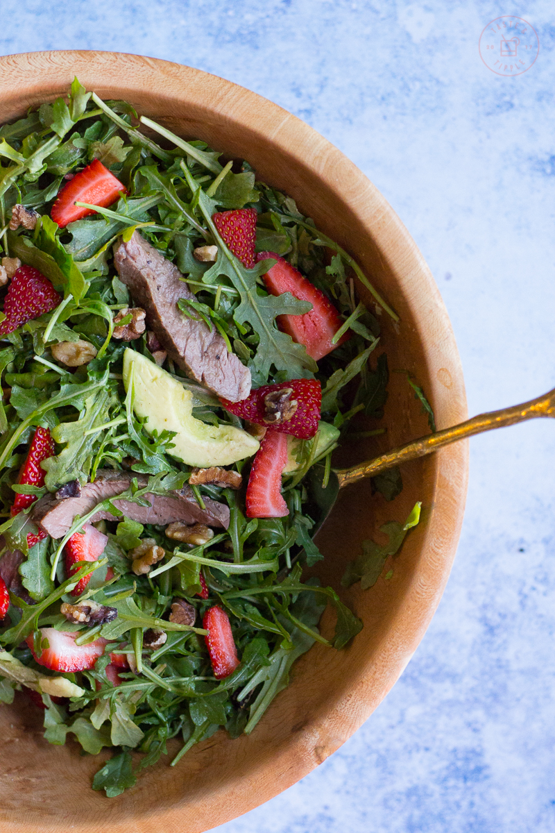 Strawberry Steak Salad with Balsamic Vinaigrette | Taste and Tipple