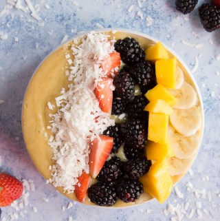 Banana Mango Smoothie Bowl | Taste and Tipple