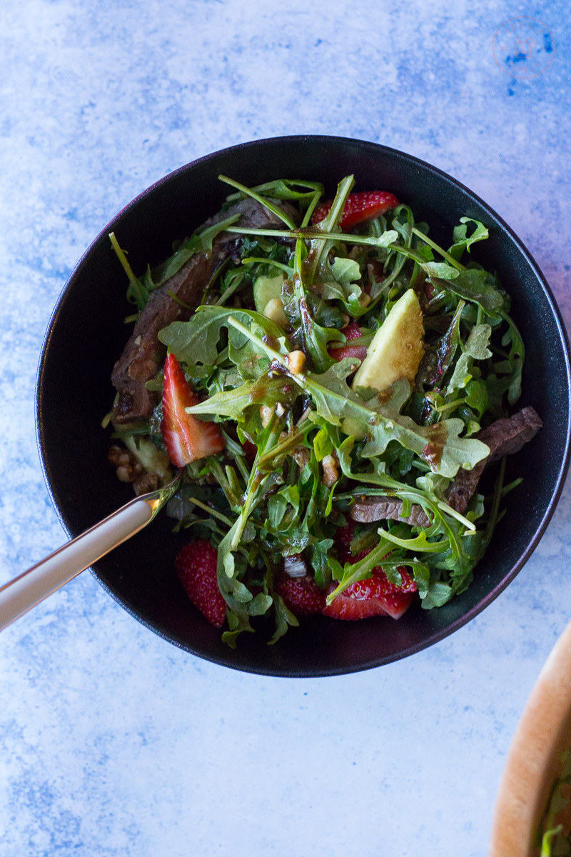 Strawberry Steak Salad with Balsamic Vinaigrette | Taste and Tipple