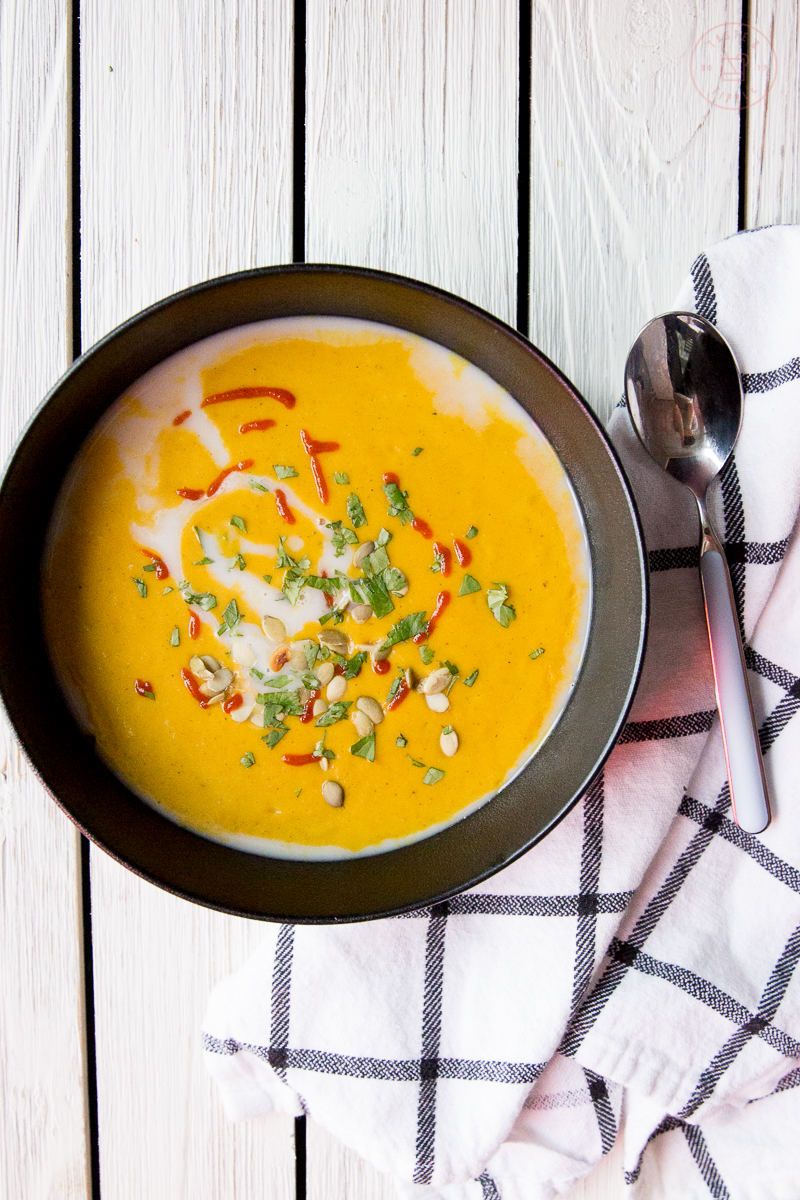 Whole30 Curried Butternut Squash Soup | Taste and Tipple