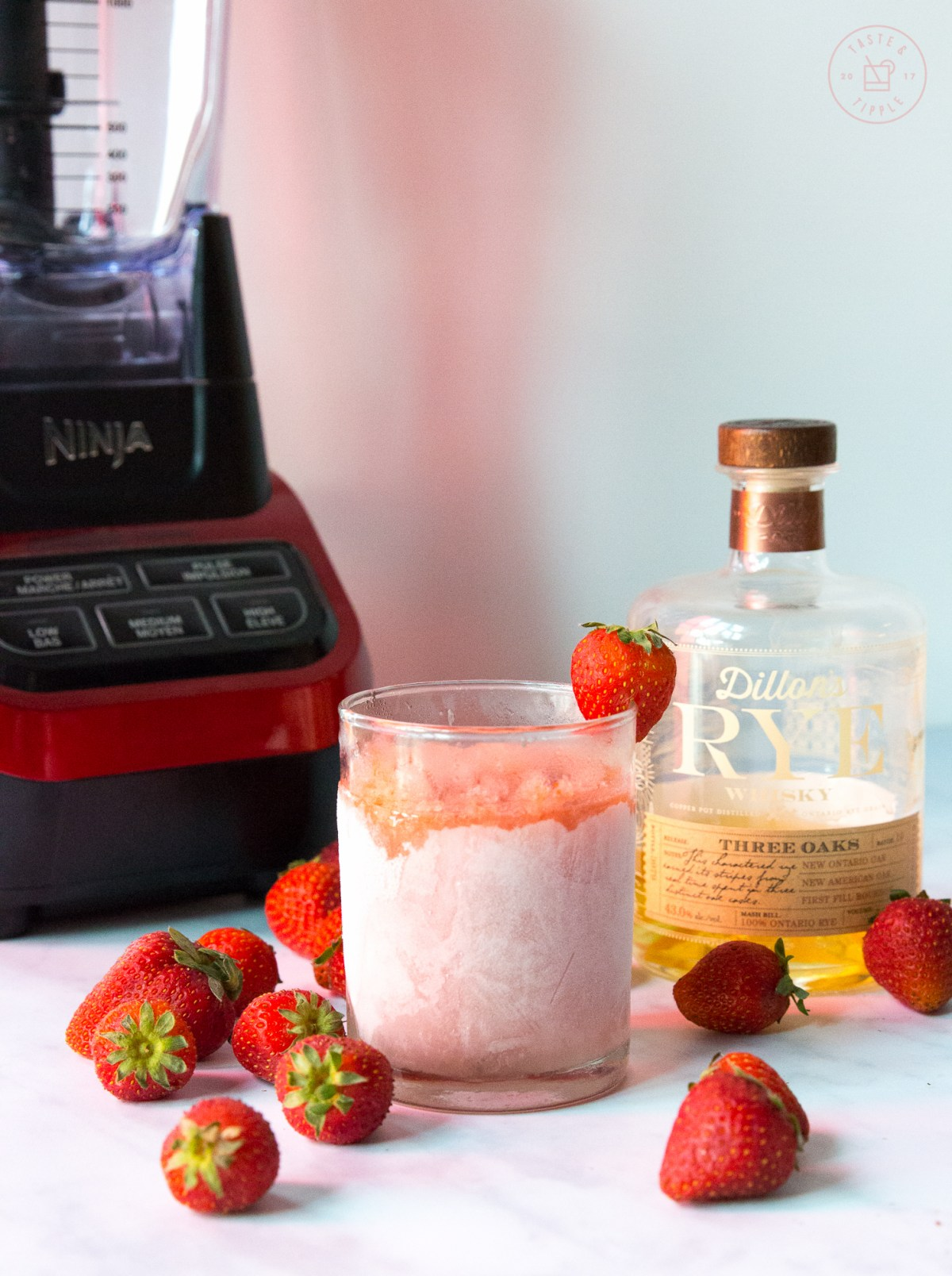 Straberry Rhubarb Slushie | Taste and Tipple