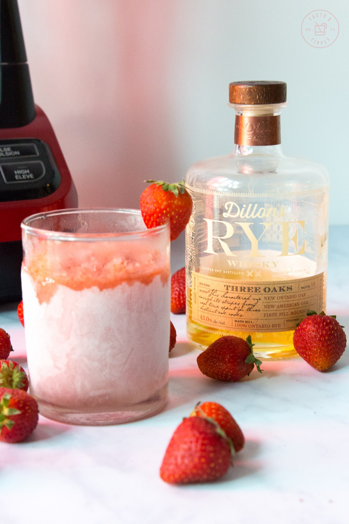 Strawberry Rhubarb Slushie | Taste and Tipple