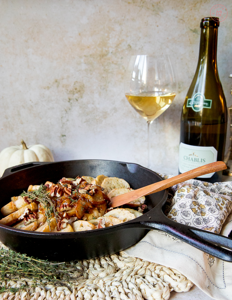 Baked Brie with Caramelized Pear | Taste and Tippl