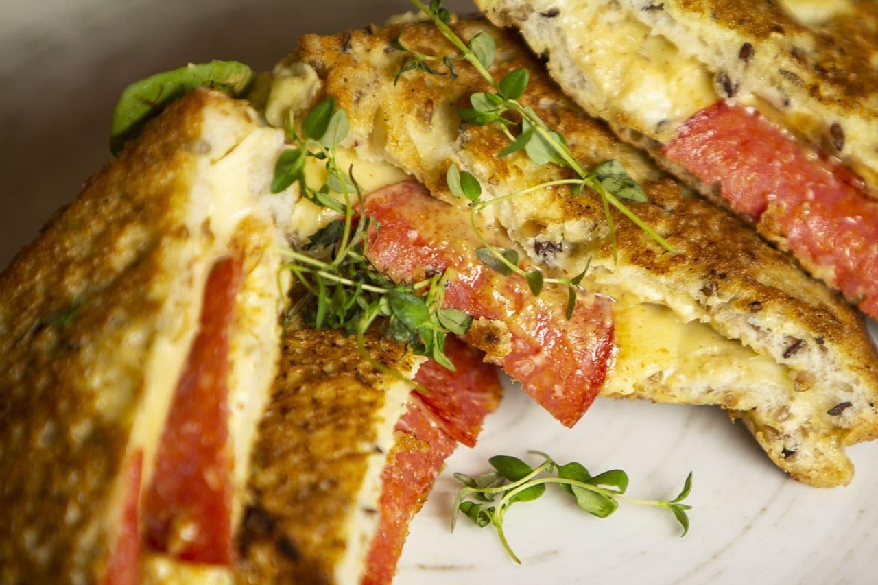 Salame Monte Cristo sandwich