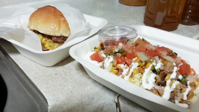 Cali Burger and Burrito Bowl at Cali Kitchen