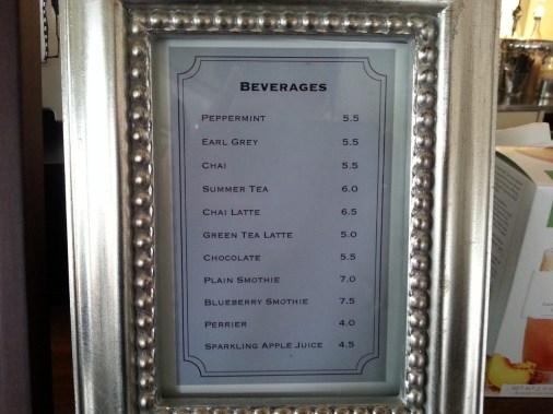 Menu at Chansbros Coffee