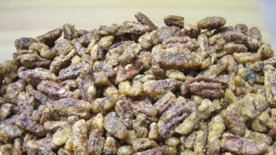 Candied Spiced Nuts After Baking