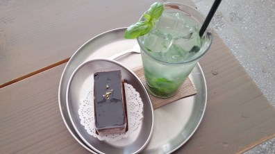 Dark Chocolate Cake with Lime and Basil Ade at Dark Chocolate Cake at RUE ㄱㅕㅇㄹㅣㄷㅏㄴ
