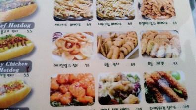 Fried Food Menu at the Dugout