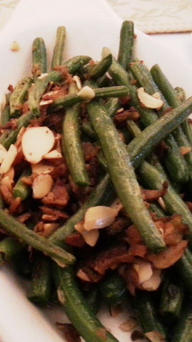 Fresh Green Beans with Bacon and Almonds at Sables