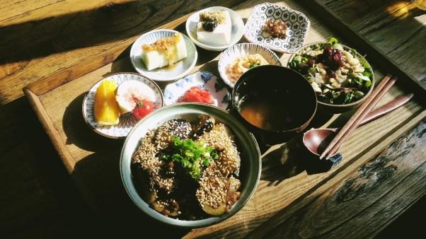 Pork and Eggplant Donburi Set at Mesiya