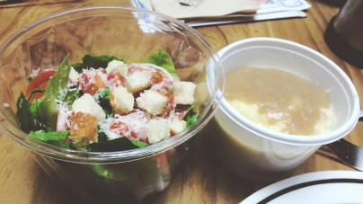 Caesar Salad and Mashed Potatoes at The Little Pie