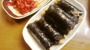 Spicy Gimbap at Yetnal Guksi