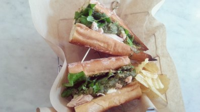 Chicken Pesto Sandwich at Fat Cat