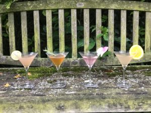 Cocktails in the garden