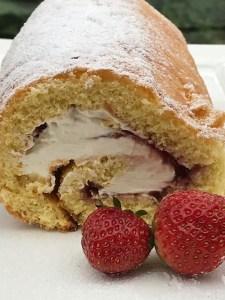 Strawberry Cream Roulade