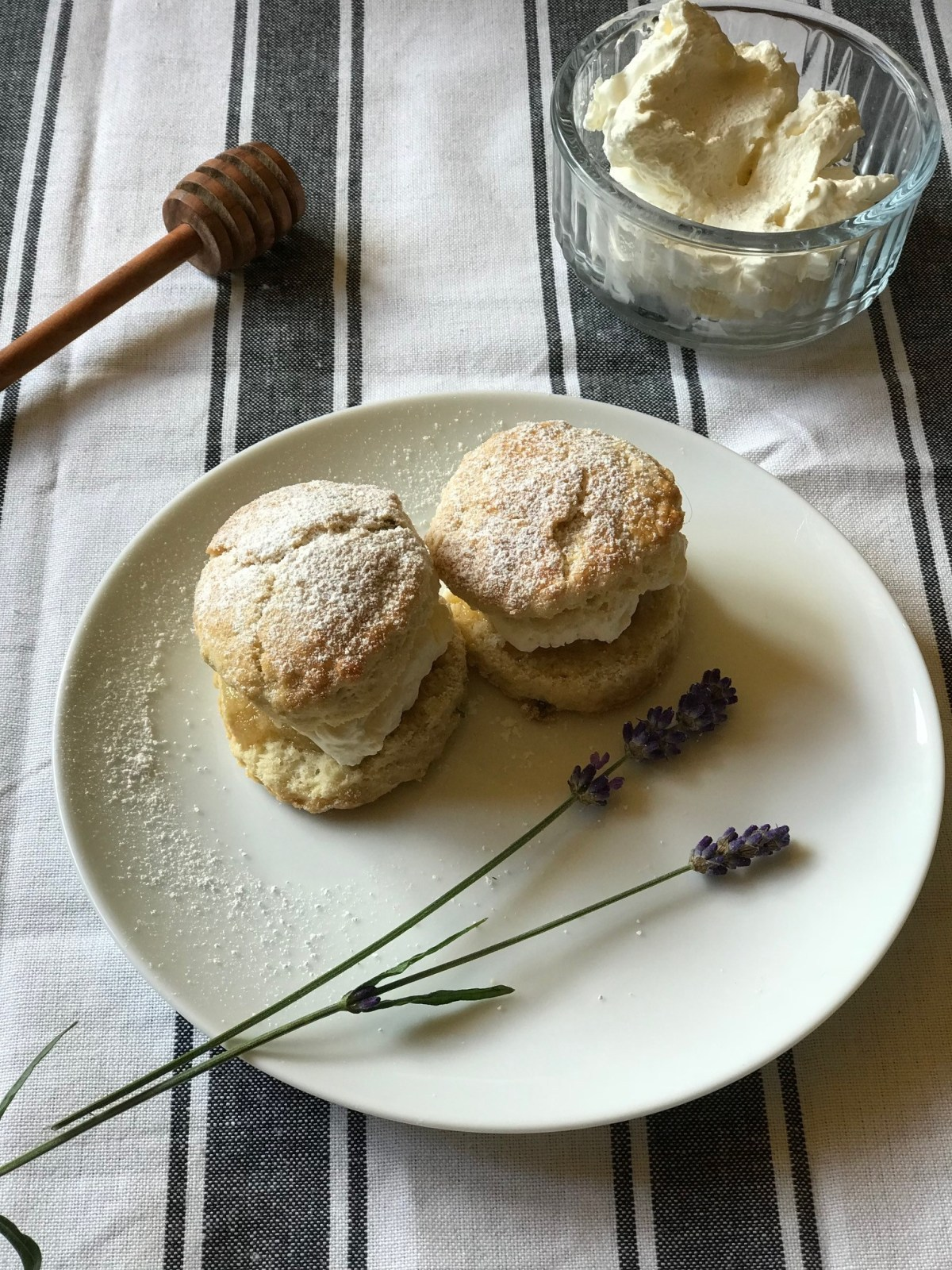 Honey Cream Tea with Lavender Scones