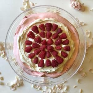 Rose Pavlova, Raspberry Pavlova, Rose Meringue