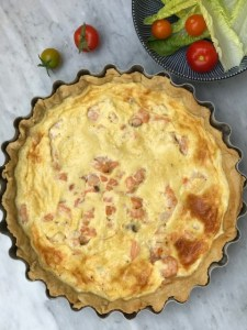 Smoked Salmon Tart, Smoked Salmon Quiche