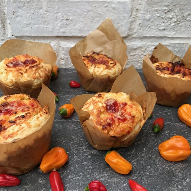 Cheese Muffins with Chilli Jam