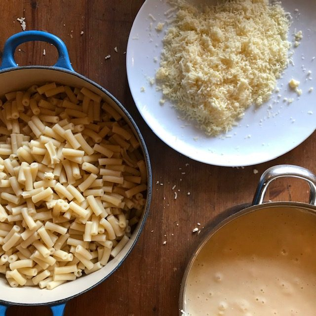 Macaroni, Cheese and Cheese Sauce for Macaroni Cheese