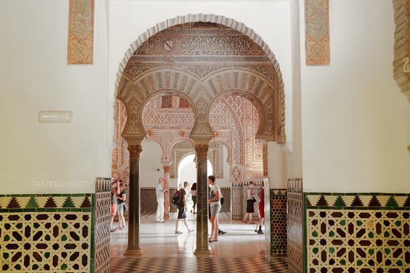 Interior-Inspiration von unterwegs: Sevilla Alcazar. Wohnblog Tasteboykott Wohninspiration.